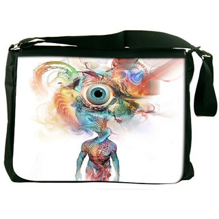 Snoogg Beauty In Mind Eye Designer Laptop Messenger Bag