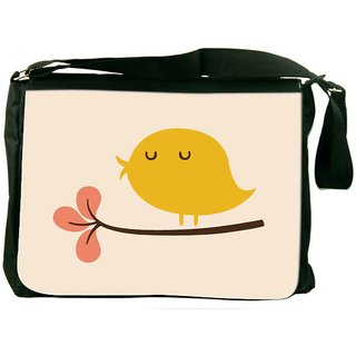 Snoogg Bird Life Minimal Designer Laptop Messenger Bag