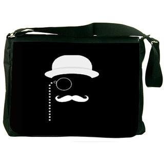 Snoogg Minimal Detective Designer Laptop Messenger Bag