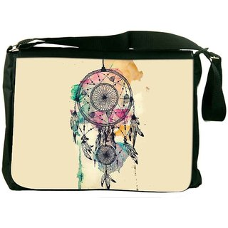 Snoogg Dream Catcher Colourful Designer Laptop Messenger Bag