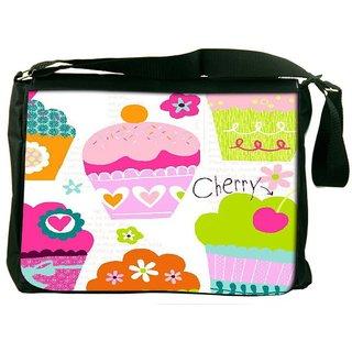 Snoogg Cup Cakes Designer Laptop Messenger Bag