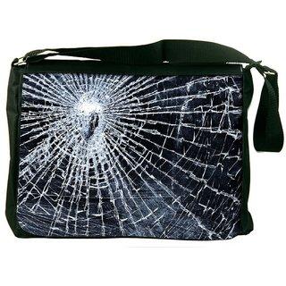 Snoogg Broken Screen Designer Laptop Messenger Bag