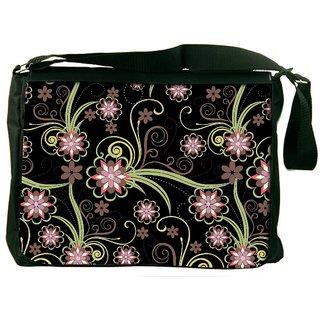 Snoogg Abstract Pattern Background Designer Laptop Messenger Bag