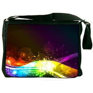 Snoogg Abstract Shiny Wave Background Ic Rgb Designer Laptop Messenger Bag