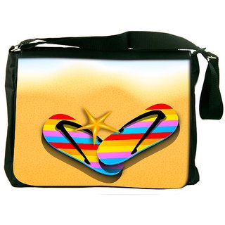 Snoogg Abstract Summer Background Designer Laptop Messenger Bag