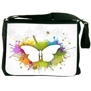 Snoogg Abstract Summer Background Designer Laptop Messenger Bag