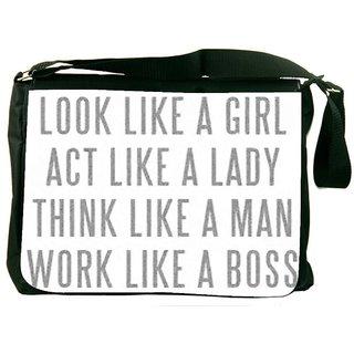 Snoogg Lady Mantra DesignerLaptop Messenger Bag