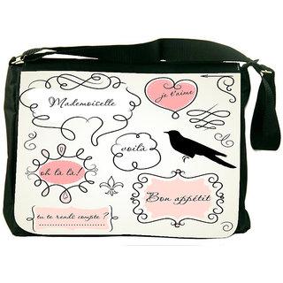 Snoogg Doodle Frames Designer Laptop Messenger Bag