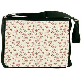Snoogg English Rose Designer Laptop Messenger Bag