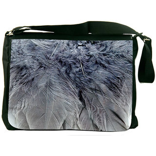 Snoogg Feathers 2 Texture Digitally Printed Laptop Messenger  Bag