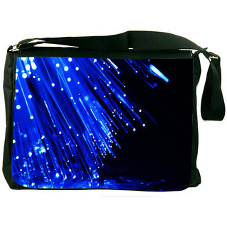 Snoogg Fiber Optics Designer Laptop Messenger Bag