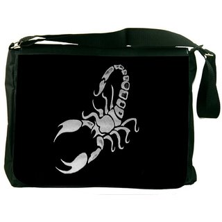 Snoogg Scorpio Digitally Printed Laptop Messenger  Bag