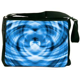 Snoogg Blue Hearts 2373 Digitally Printed Laptop Messenger  Bag