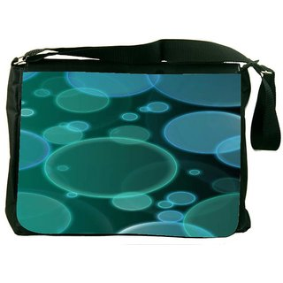 Snoogg Bubbles Design 2380 Digitally Printed Laptop Messenger  Bag