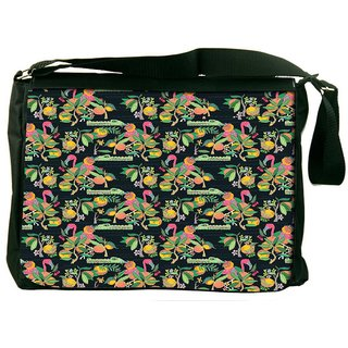 Snoogg Forest Croc Pattern Designer Laptop Messenger Bag