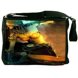 Snoogg Forest Goddess Tribal Designer Laptop Messenger Bag