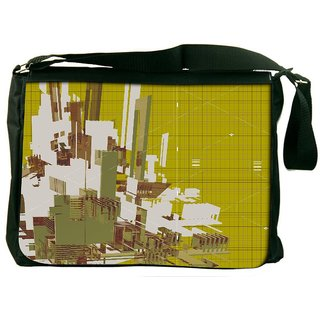 Snoogg 3D Rendered Abstract Background Digitally Printed Laptop Messenger  Bag