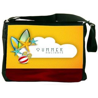 ade36209a265 Snoogg Abstract Summer Background Designer Laptop Messenger Bag