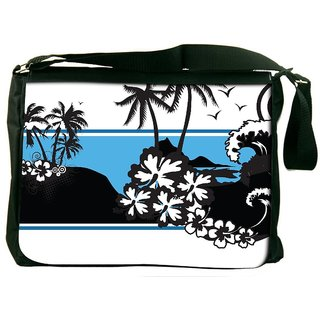 Snoogg Abstract Tropical Background Designer Laptop Messenger Bag
