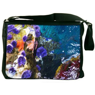 Snoogg Abstract Underwater Digitally Printed Laptop Messenger  Bag