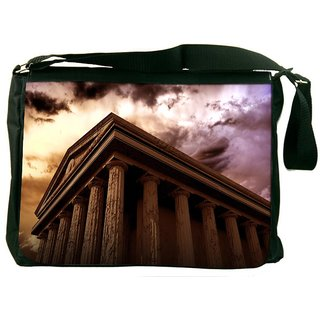 Snoogg Ancient Temple Designer Laptop Messenger Bag