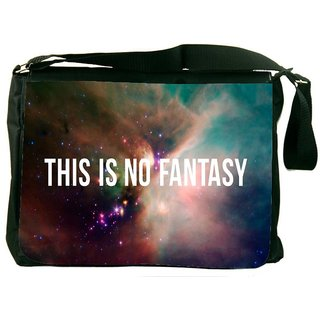 Snoogg This Is Not Fantasy DesignerLaptop Messenger Bag