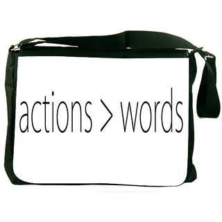 Snoogg Actions  Words DesignerLaptop Messenger Bag