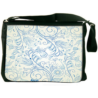 Snoogg Floral Hand Drawn Background Designer Laptop Messenger Bag