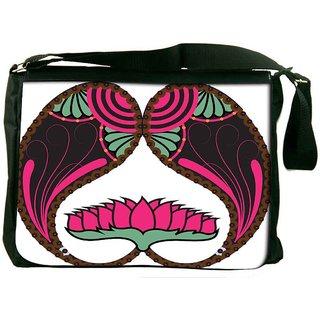 Snoogg Floral Paisley Design Designer Laptop Messenger Bag