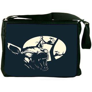 Snoogg Funny T Shirt Design With Angry Chihuahua Designer Laptop Messenger Bag