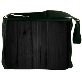 Snoogg Plain Black Wall Digitally Printed Laptop Messenger  Bag