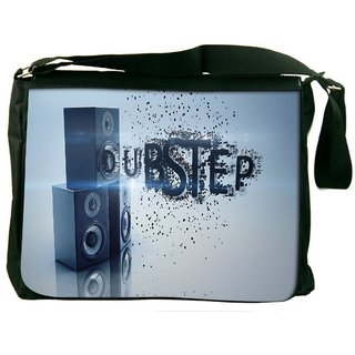 Snoogg Dubstep Digitally Printed Laptop Messenger  Bag