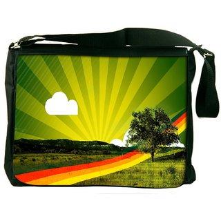 Snoogg Rainbow Path Digitally Printed Laptop Messenger  Bag