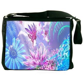 Snoogg Pink Petals Digitally Printed Laptop Messenger  Bag