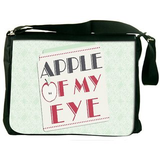 Snoogg Apple Of My Eye Digitally Printed Laptop Messenger  Bag