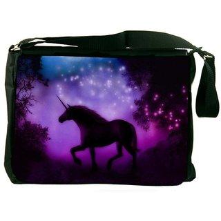 Snoogg Enchanted Unicorn Digitally Printed Laptop Messenger  Bag