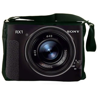Snoogg Sony Camera Digitally Printed Laptop Messenger  Bag