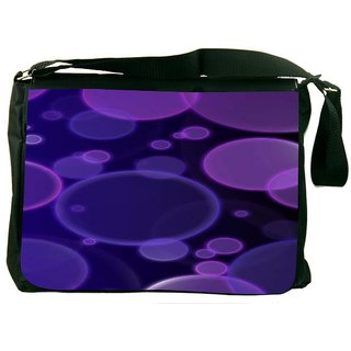 Snoogg Bubbles Design 2383 Digitally Printed Laptop Messenger  Bag