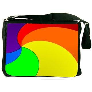 Snoogg Centric Energy Flow 2390 Digitally Printed Laptop Messenger  Bag