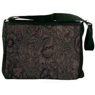 Snoogg Vintage Flower Art Designer Laptop Messenger Bag