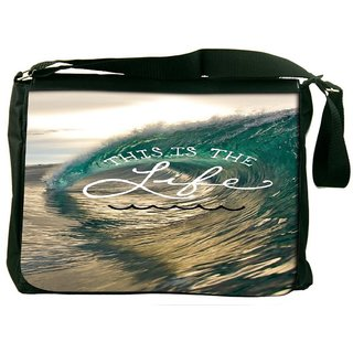 Snoogg Beach Wave Life Designer Laptop Messenger Bag