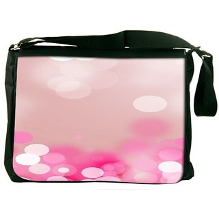 Snoogg Pink Lock Haze Designer Laptop Messenger Bag
