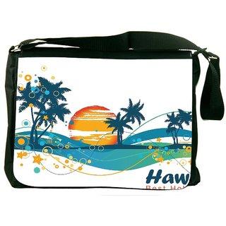 Snoogg Summer Illustration Designer Laptop Messenger Bag