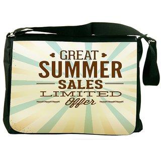 Snoogg Summer Vector Illustration Designer Laptop Messenger Bag