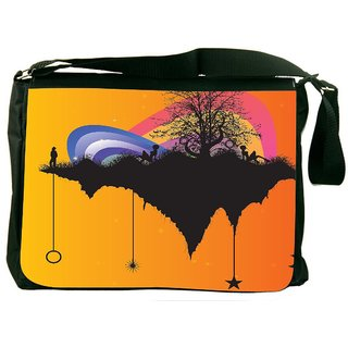 Snoogg Tree With Rainbow Designer Laptop Messenger Bag