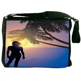 Snoogg Tropical Sunrise Designer Laptop Messenger Bag