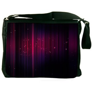 Snoogg Abstract Pink Abstract Digitally Printed Laptop Messenger  Bag