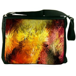 Snoogg Abstract Colorful Design Digitally Printed Laptop Messenger  Bag