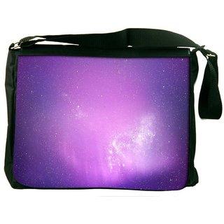 Snoogg Aurora Wallpaper Digitally Printed Laptop Messenger  Bag