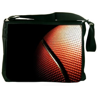 Snoogg Basketball Digitally Printed Laptop Messenger  Bag